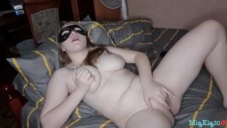 Horny Masked Blonde Masturbates Pussy And Gets Orgasm