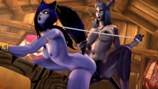 Void Wolf Girl Fuck By Draenei Girl | World Of Warcraft | By:kaminakirei