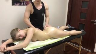 Hot Blonde Girl Blowjob After Erotic Massage
