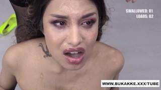 Roxy Lips Strips And Sucks For Cum Feast   Bukkake.xxx