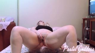 BBW Masturbating On Small Man Ass Licking