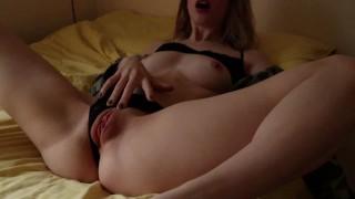 Cute Girl Cumming Hard On Daddy's Dick