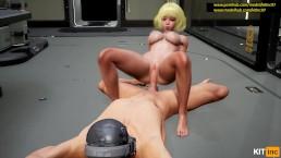 The Guy In The Helmet Fucks The Girl [3D.Hentai.60FPS.Fallen Doll] Part 2
