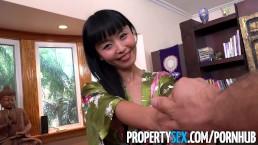 PropertySex   Hot Japanese Tenant Fucks Her Landlord
