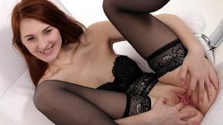 Orgasm   Big Black Dildo Makes This Redhead Orgasm!