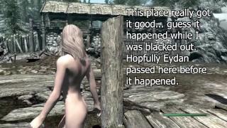 Skyrim ENF   Elf Girl Dumped Naked On The Road Pt. 1