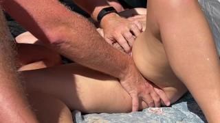 Risky Outdoor Fuck Then Female Orgasm Exhibitionist People Around