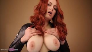 BLACK WIDOW'S TEST RIDE (pov Virtual Sex, Tits Out)