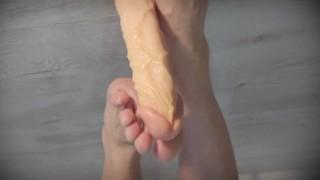 Sexy Feet Big Dildo Footjob