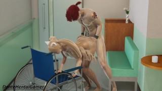 MIZUMI & DANTE (Part 4)   Fucking Busty Girlfriend Doggystyle Leaning On A Wheelchair   Cum On Ass